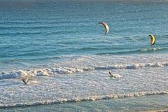 风筝海浪,南非 免版税库存图片