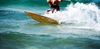 风筝海浪:在海浪的细节 免版税库存照片
