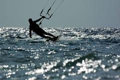 风筝海浪 库存图片
