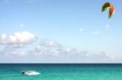 风筝海浪 库存照片