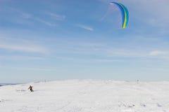 风筝滑雪 免版税库存照片