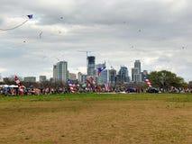 风筝节日在奥斯汀得克萨斯 免版税库存图片