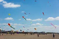 风筝节日威斯顿超级母马萨默塞特 库存照片