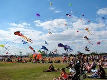 风筝节日,波兹毛斯,汉普郡,英国 免版税库存图片