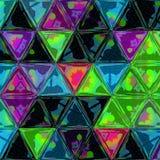 风筝花里胡哨的五颜六色的马赛克三角补缀品 免版税图库摄影