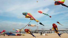 风筝飞行在荷兰 股票录像