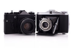 风箱和slr照相机 图库摄影