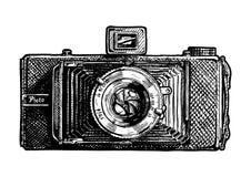 风箱式照相机的例证 免版税库存照片