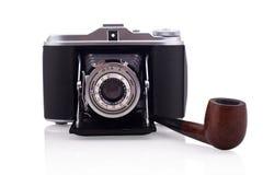 风箱照相机和管子 库存照片
