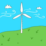 风能概念动画片例证 库存例证