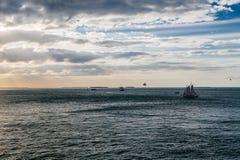 风船和Parasails 免版税库存图片