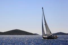 风船在亚得里亚海 库存图片