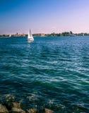 风船在圣地亚哥 免版税库存照片