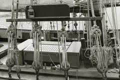 风船在圣马洛湾 库存图片