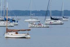 风船在Keyport新泽西 免版税库存图片