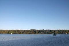 风船在Vashon海岛港口 库存图片