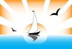 风船太阳 免版税库存图片