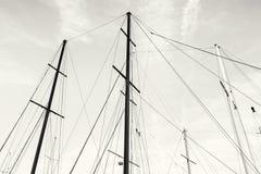 风船帆柱,无色 库存照片