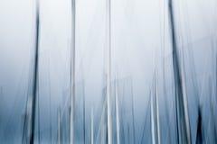 风船摘要的移动的帆柱 库存图片