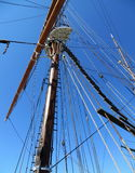 风船的帆柱 免版税库存图片