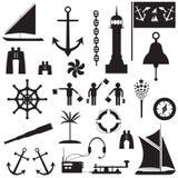 风船符号集 库存图片