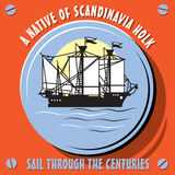 风船船斯堪的那维亚Holk的当地人 库存照片