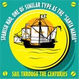 风船船西班牙Nao的当地人 免版税库存照片