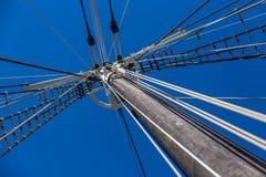 风船索具和大帆柱 免版税库存图片