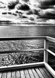 风船 在黑白的艺术性的神色 免版税库存照片