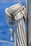 风船绳索细节 图库摄影