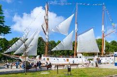 风船Meridianas,克莱佩达,立陶宛 免版税库存照片