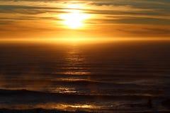 风行照相机多数惊人的日落 库存图片