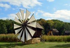 风车一个露天博物馆 免版税库存照片