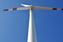 风车发电器爱好者  免版税库存照片