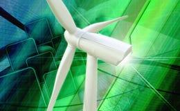 风车发电器能源厂 库存照片