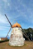 风车在亚速尔群岛 免版税库存图片