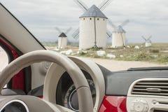风车在卡斯蒂利亚拉曼查 库存图片