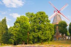 风车在布里曼 库存图片