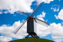 风车在布鲁日,北欧,比利时 库存图片