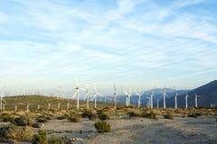 风车在棕榈泉 免版税库存照片