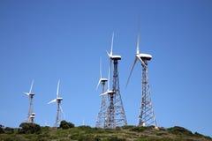 风车在西班牙 库存图片