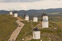 风车在西班牙 库存照片