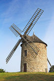 风车在诺曼底 免版税库存照片