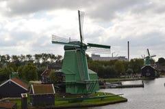 风车在阿姆斯特丹 库存图片