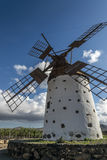风车在费埃特文图拉岛 免版税图库摄影