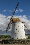 风车在费埃特文图拉岛 免版税库存图片