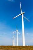 风车在晴天 图库摄影
