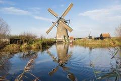 风车在Kinderdijk 图库摄影