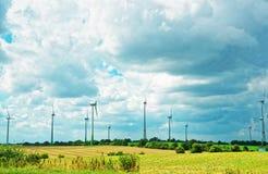 风车在Turbenthal在瑞士的苏黎世小行政区的温特图尔 库存照片