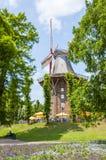 风车在Wallanlagen公园,布里曼,德国 免版税库存图片